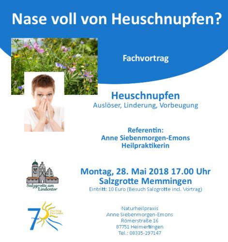 Veranstaltungshinweis Vortrag Heuschnupfen